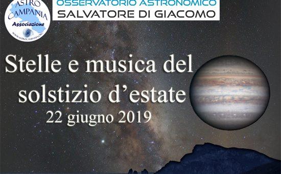Stelle e musica del solstizio d'Estate 2019