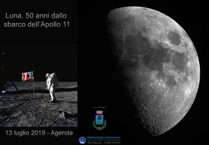 Luna – 50 anni dallo sbarco dell'Apollo 11   –  13/07/2019